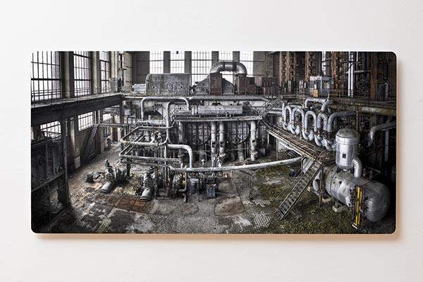 Magnettafel BACKLIGHT 120x60cm Motiv-Wandbild M06 Verlassener Ort Fabrik