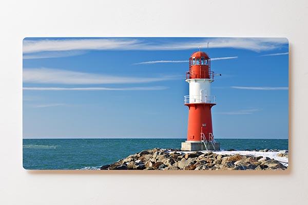 Magnettafel BACKLIGHT 120x60cm Motiv-Wandbild M07 Leuchtturm