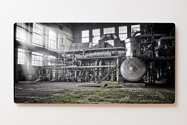 Magnettafel BACKLIGHT 120x60cm Motiv-Wandbild M08 Verlassener Ort Fabrik