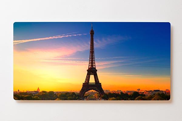 Magnettafel BACKLIGHT 120x60cm Motiv-Wandbild M09 Eifelturm Paris