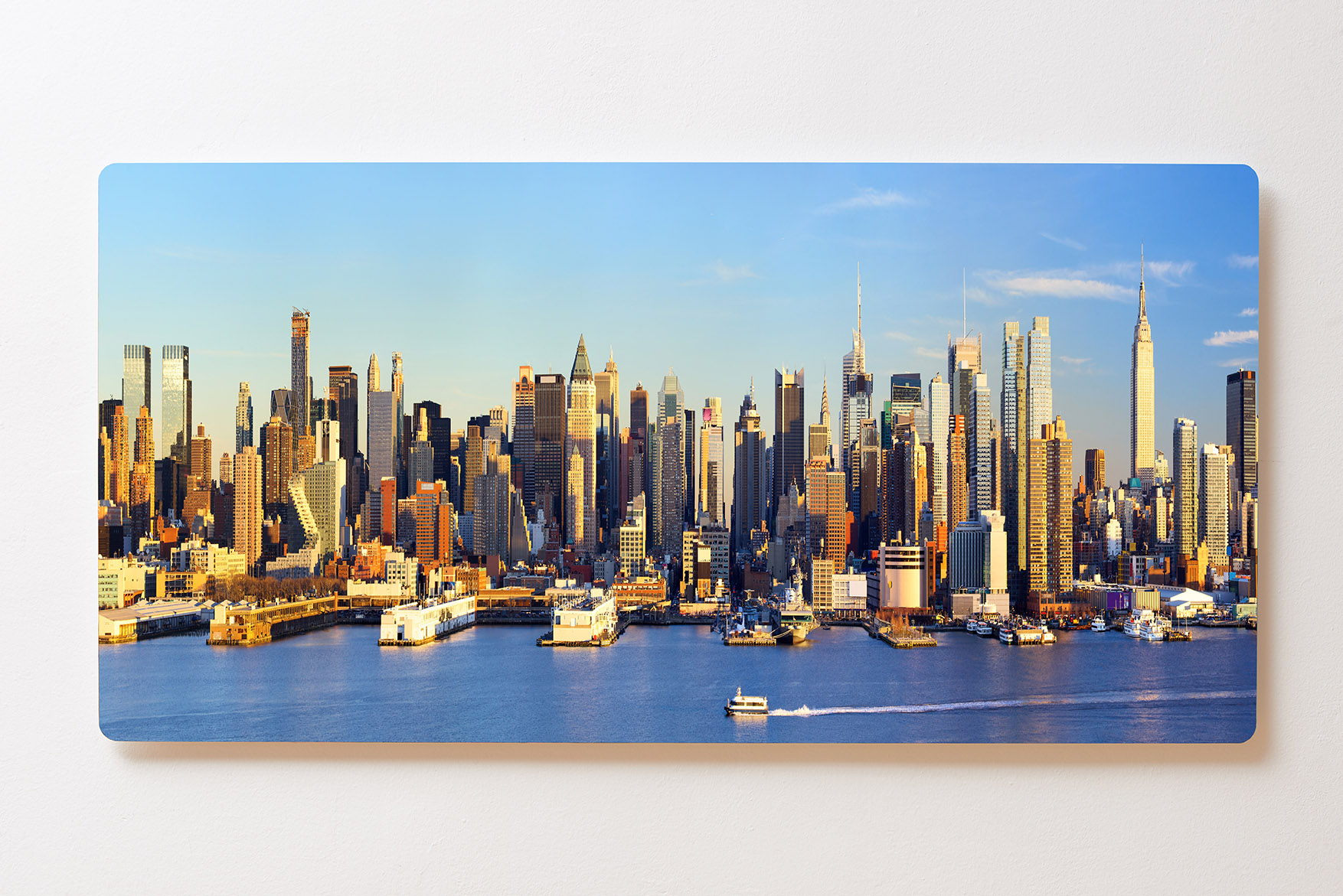 Magnettafel BACKLIGHT 120x60cm Motiv-Wandbild M100 New York Skyline