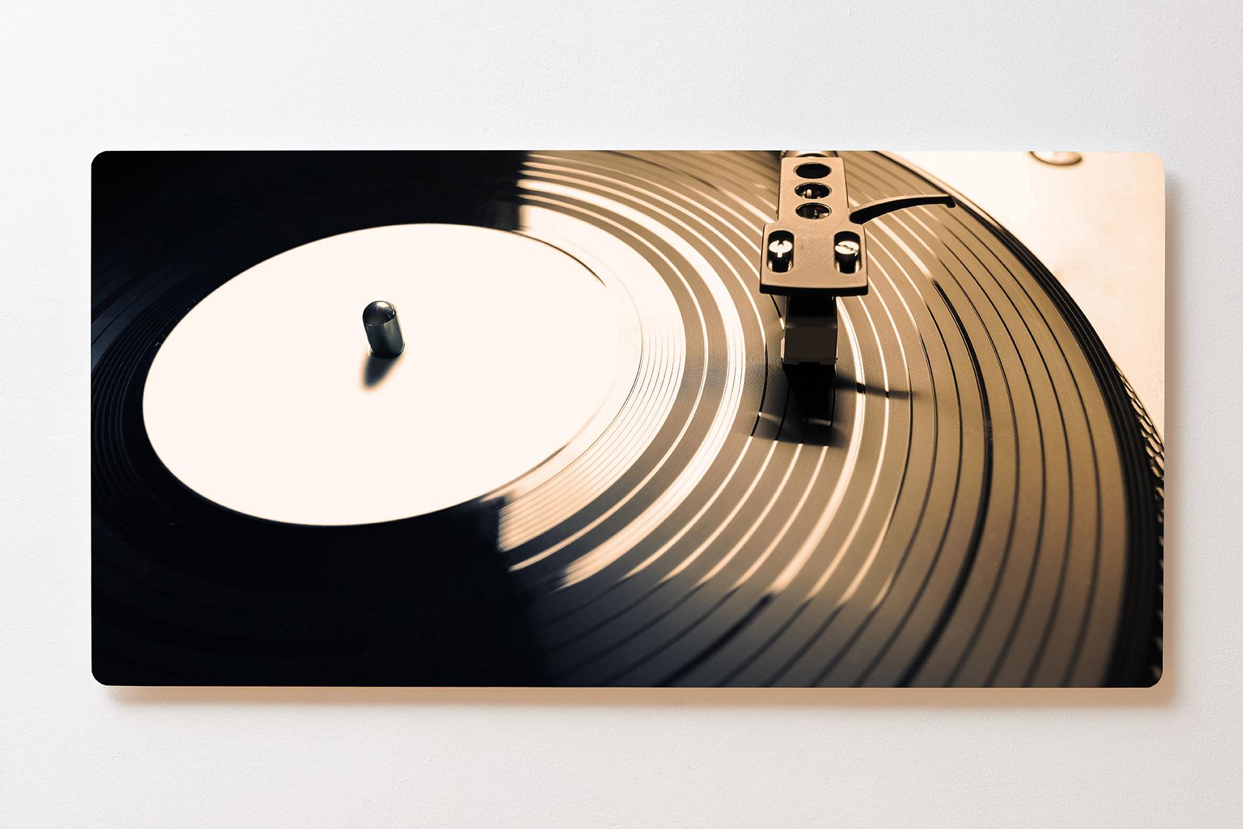 Magnettafel BACKLIGHT 120x60cm Motiv-Wandbild M108 Schallplatte Schallplattensp.