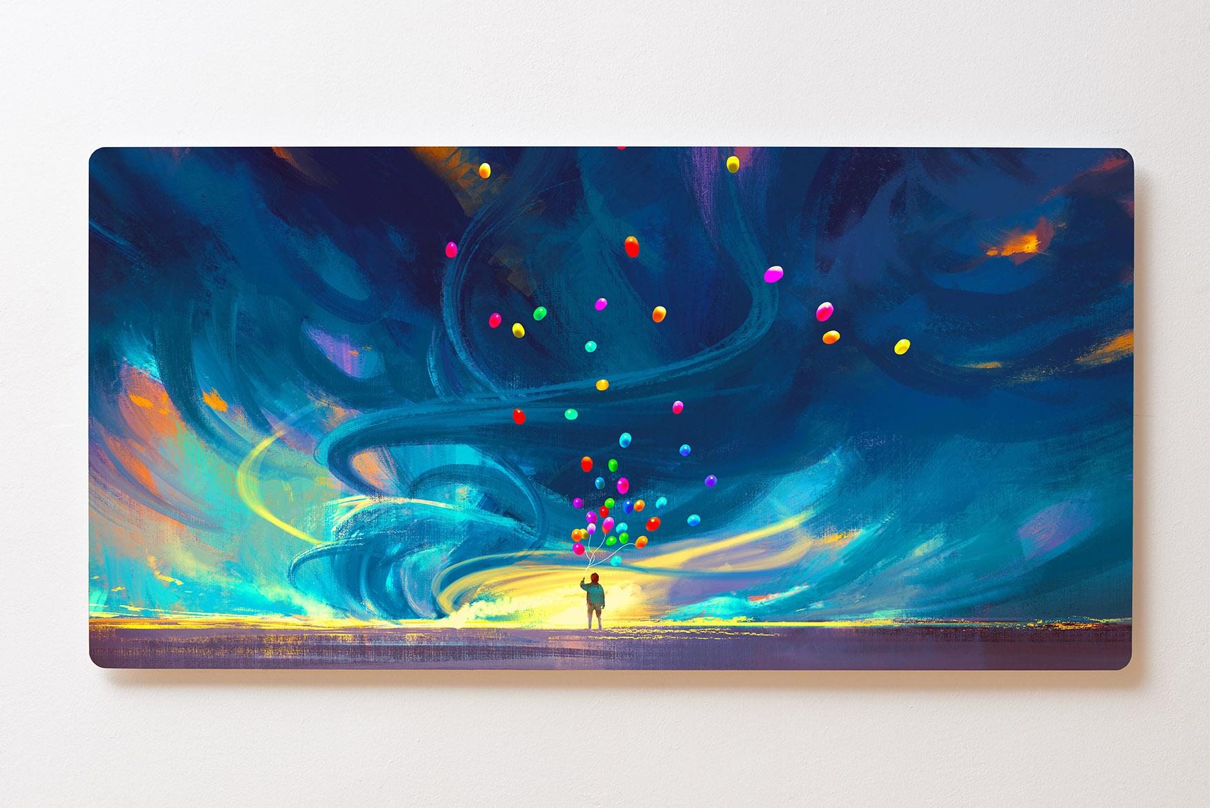 Magnettafel BACKLIGHT 120x60cm Motiv-Wandbild M118 Gemälde Sternenhimmel