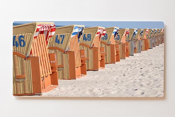 Magnettafel BACKLIGHT 120x60cm Motiv-Wandbild M11 Strandkörbe Strand Ostsee