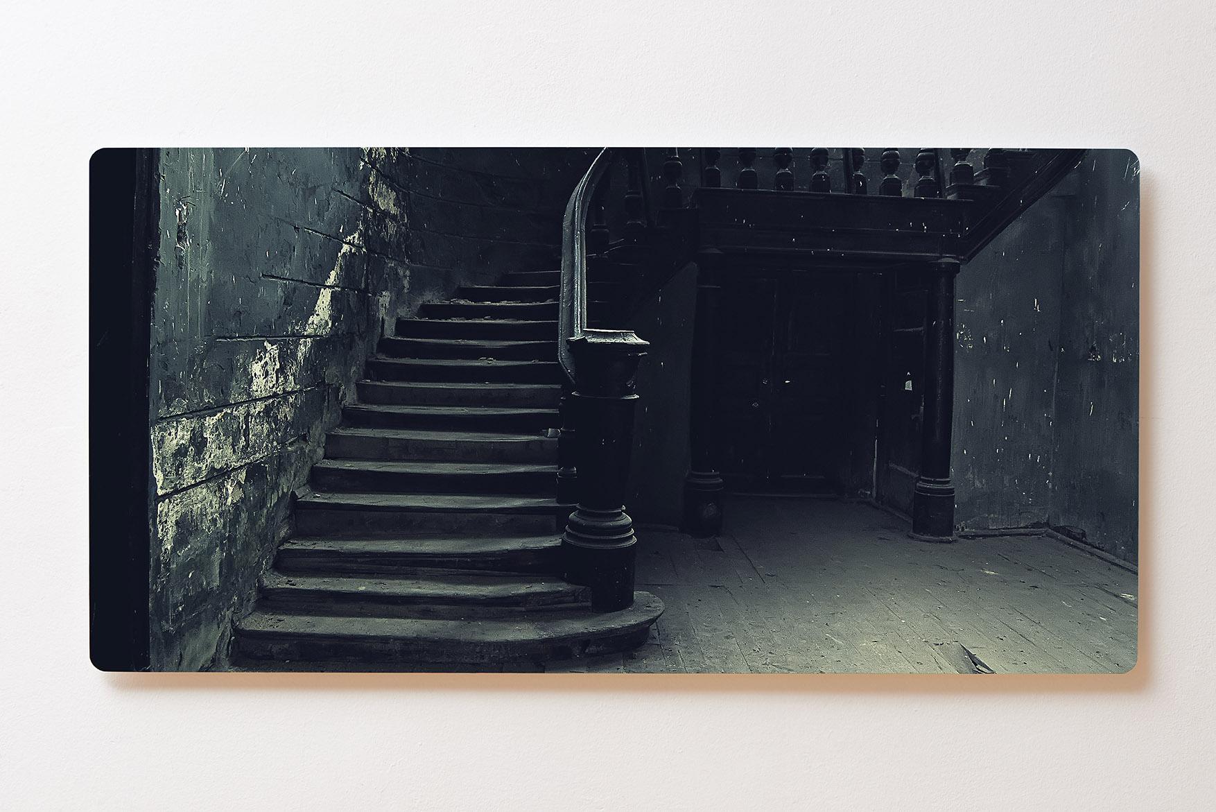 Magnettafel BACKLIGHT 120x60cm Motiv-Wandbild M122 Treppen Verlassener Ort