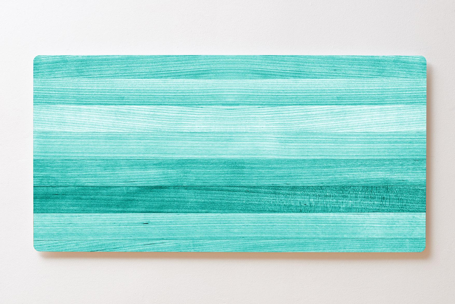 Magnettafel BACKLIGHT 120x60cm Motiv-Wandbild M124 Holzplatten Türkis