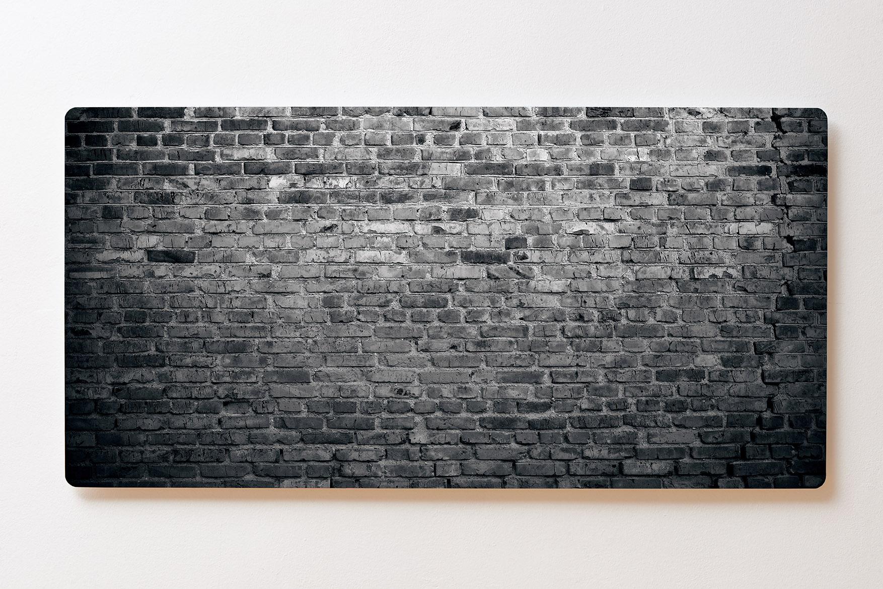 Magnettafel BACKLIGHT 120x60cm Motiv-Wandbild M129 Häuserwand Schwarz