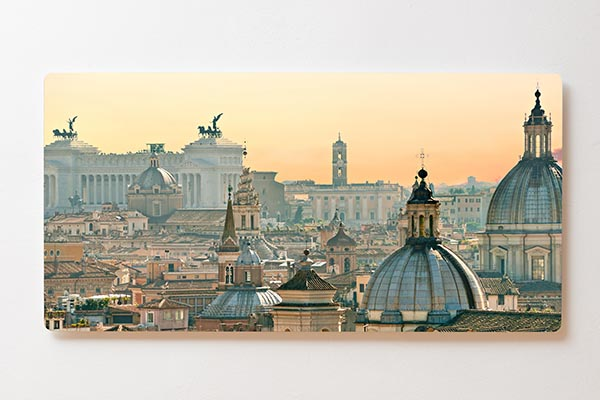 Magnettafel BACKLIGHT 120x60cm Motiv-Wandbild M12 Rom Skyline