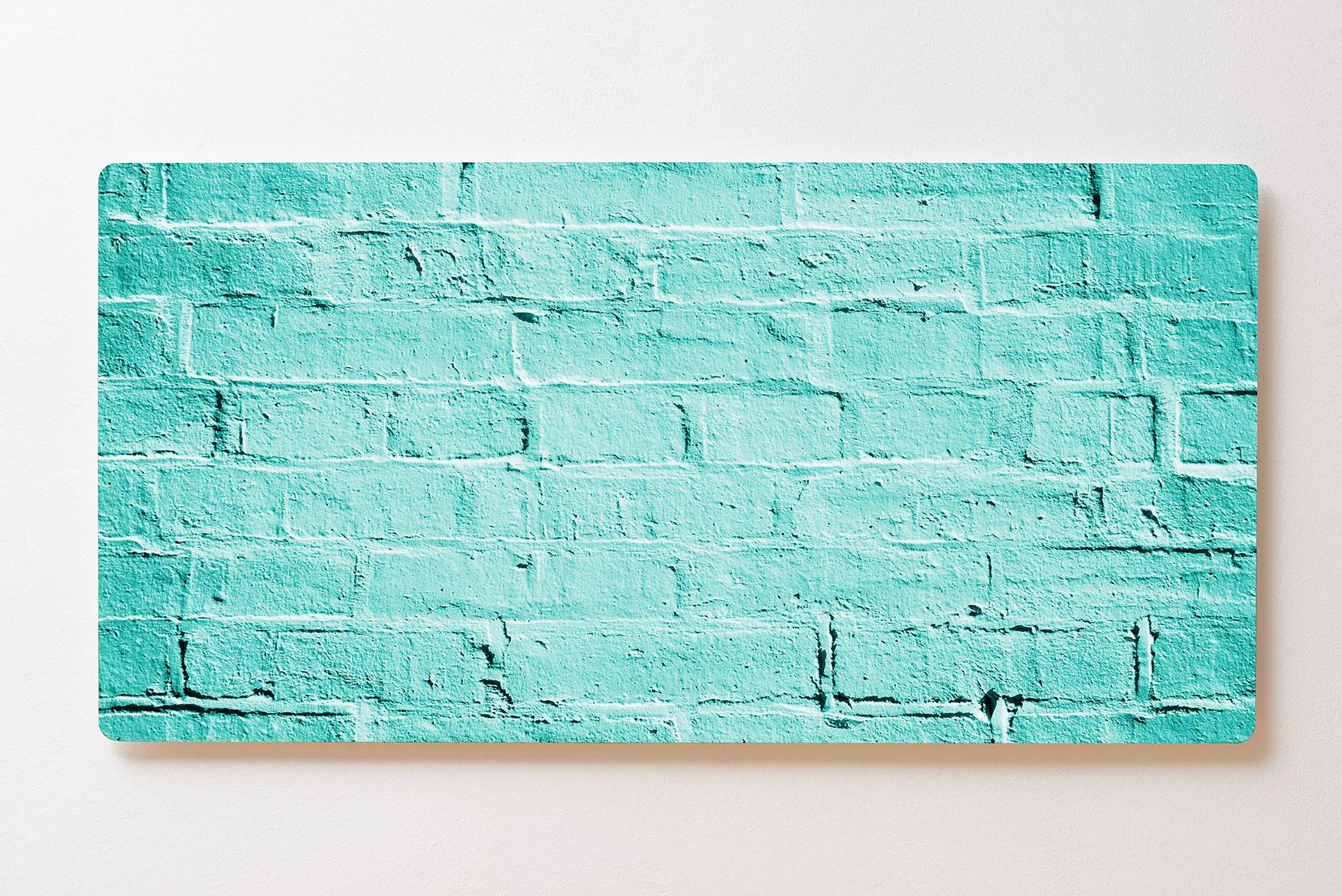Magnettafel BACKLIGHT 120x60cm Motiv-Wandbild M134 Häuserwand Türkis