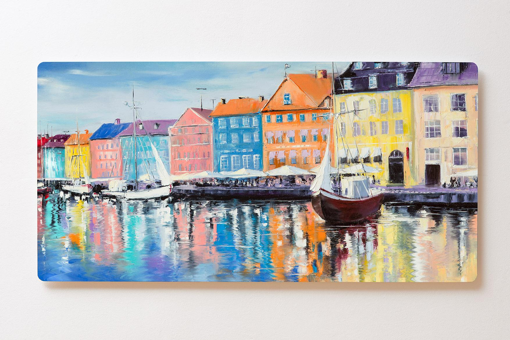 Magnettafel BACKLIGHT 120x60cm Motiv-Wandbild M137 Gemälde Stockholm