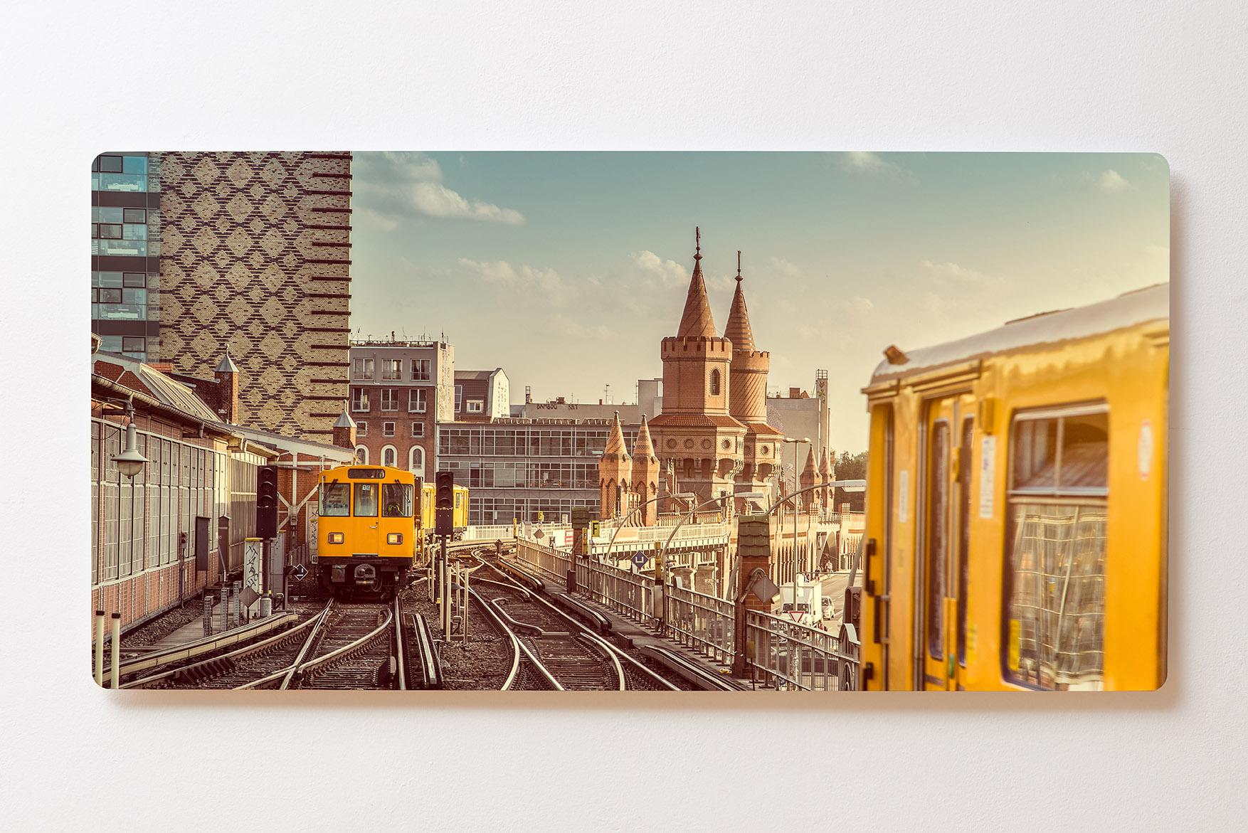 Magnettafel BACKLIGHT 120x60cm Motiv-Wandbild M141 U-Bahn Berlin