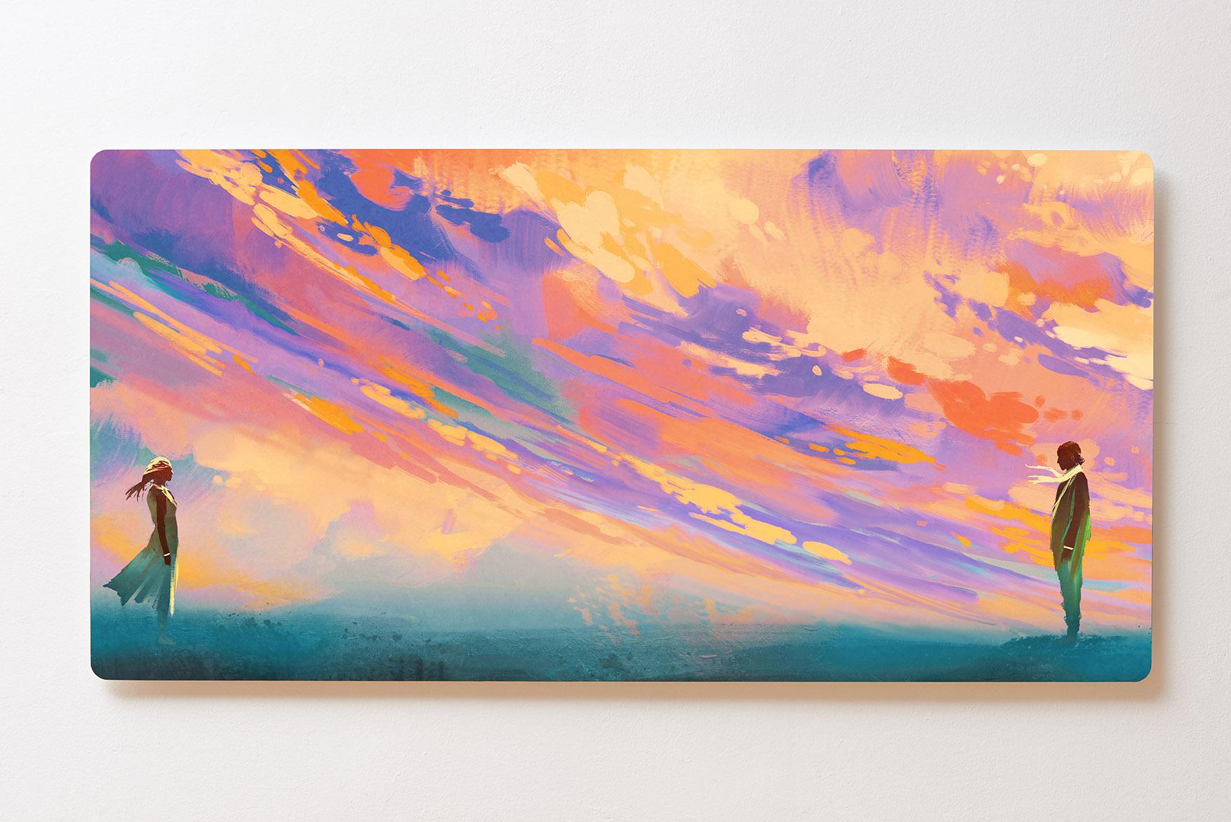 Magnettafel BACKLIGHT 120x60cm Motiv-Wandbild M143 Gemälde Himmel