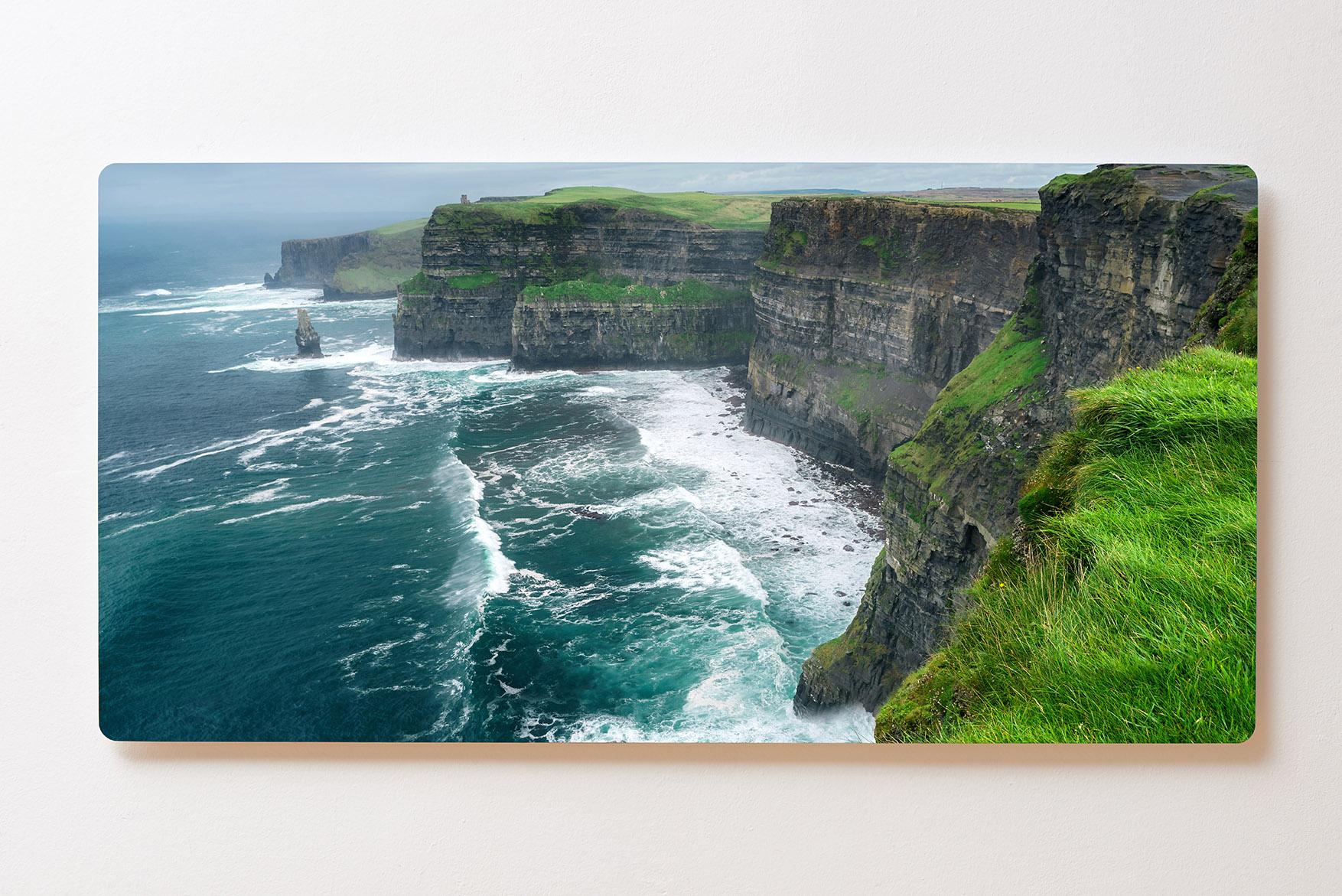 Magnettafel BACKLIGHT 120x60cm Motiv-Wandbild M145 Steinküste Meer