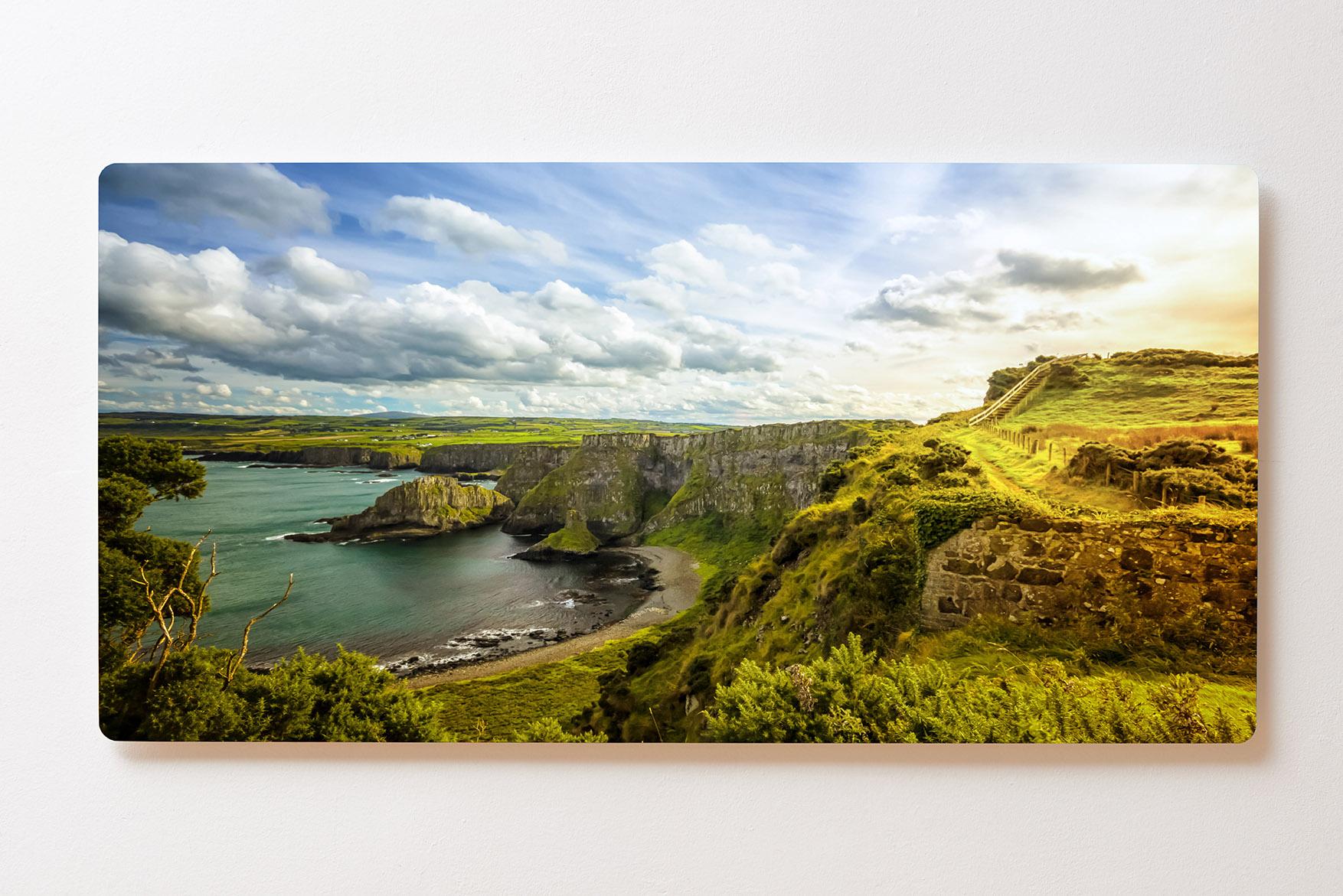 Magnettafel BACKLIGHT 120x60cm Motiv-Wandbild M150 Küste Wiese Meer