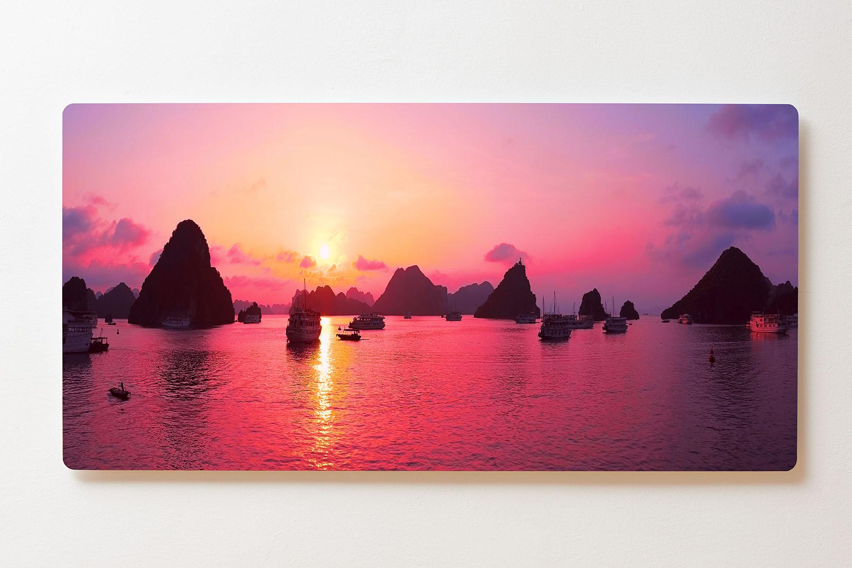 Magnettafel BACKLIGHT 120x60cm Motiv-Wandbild M152 Sonnenuntergang Meer
