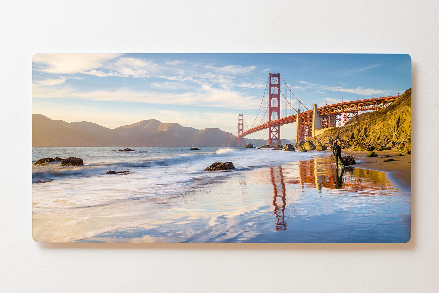 Magnettafel BACKLIGHT 120x60cm Motiv-Wandbild M155 Golden Gate San Francisco