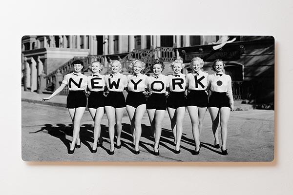 Magnettafel BACKLIGHT 120x60cm Motiv-Wandbild M15 Retro Girls New York