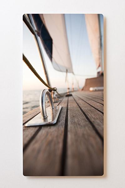 Magnettafel BACKLIGHT 60x120cm Motiv-Wandbild M05 Segelboot