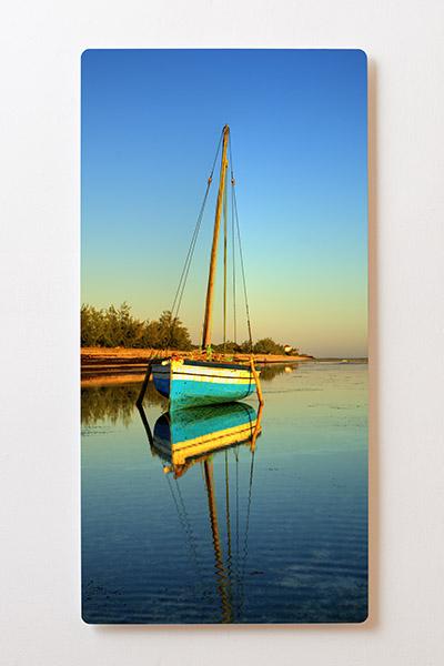 Magnettafel BACKLIGHT 60x120cm Motiv-Wandbild M21 Segelboot