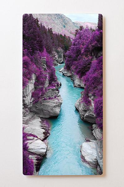 Magnettafel BACKLIGHT 60x120cm Motiv-Wandbild M25 Fluss