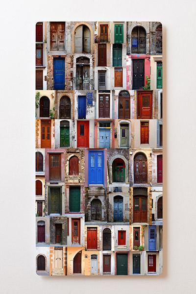 Magnettafel BACKLIGHT 60x120cm Motiv-Wandbild M33 Türen