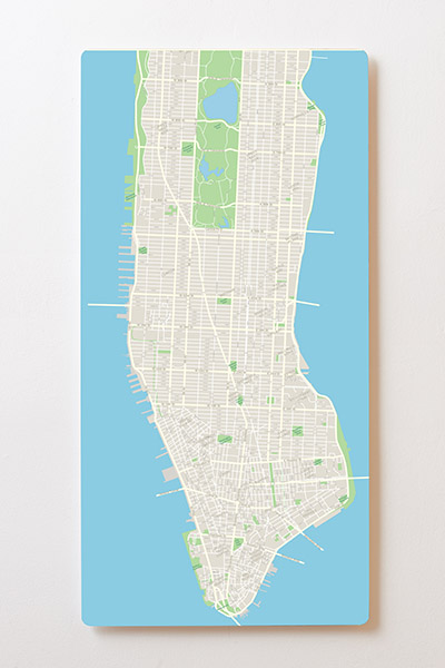 Magnettafel BACKLIGHT 60x120cm Motiv-Wandbild M39 New York