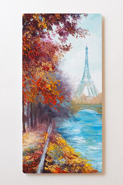 Magnettafel BACKLIGHT 60x120cm Motiv-Wandbild M41 Paris Eifelturm