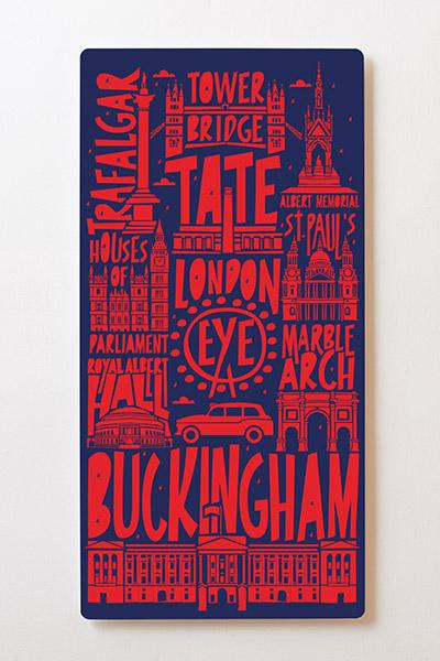 Magnettafel BACKLIGHT 60x120cm Motiv-Wandbild M43 London