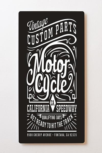 Magnettafel BACKLIGHT 60x120cm Motiv-Wandbild M46 Motorrad