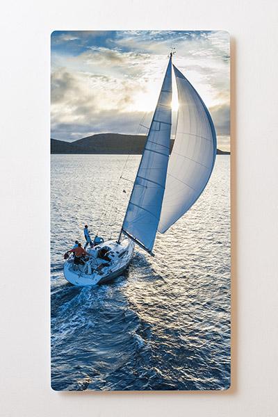 Magnettafel BACKLIGHT 60x120cm Motiv-Wandbild M52 Segelboot