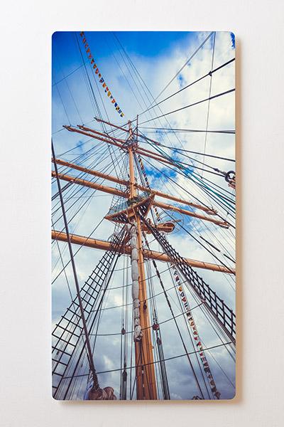 Magnettafel BACKLIGHT 60x120cm Motiv-Wandbild M54 Segelboot