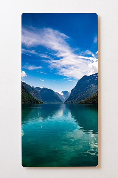 Magnettafel BACKLIGHT 60x120cm Motiv-Wandbild M57 Fjord