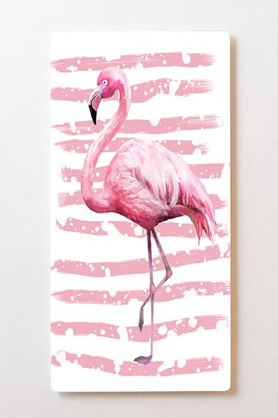 Magnettafel BACKLIGHT 60x120cm Motiv-Wandbild M59 Flamingo