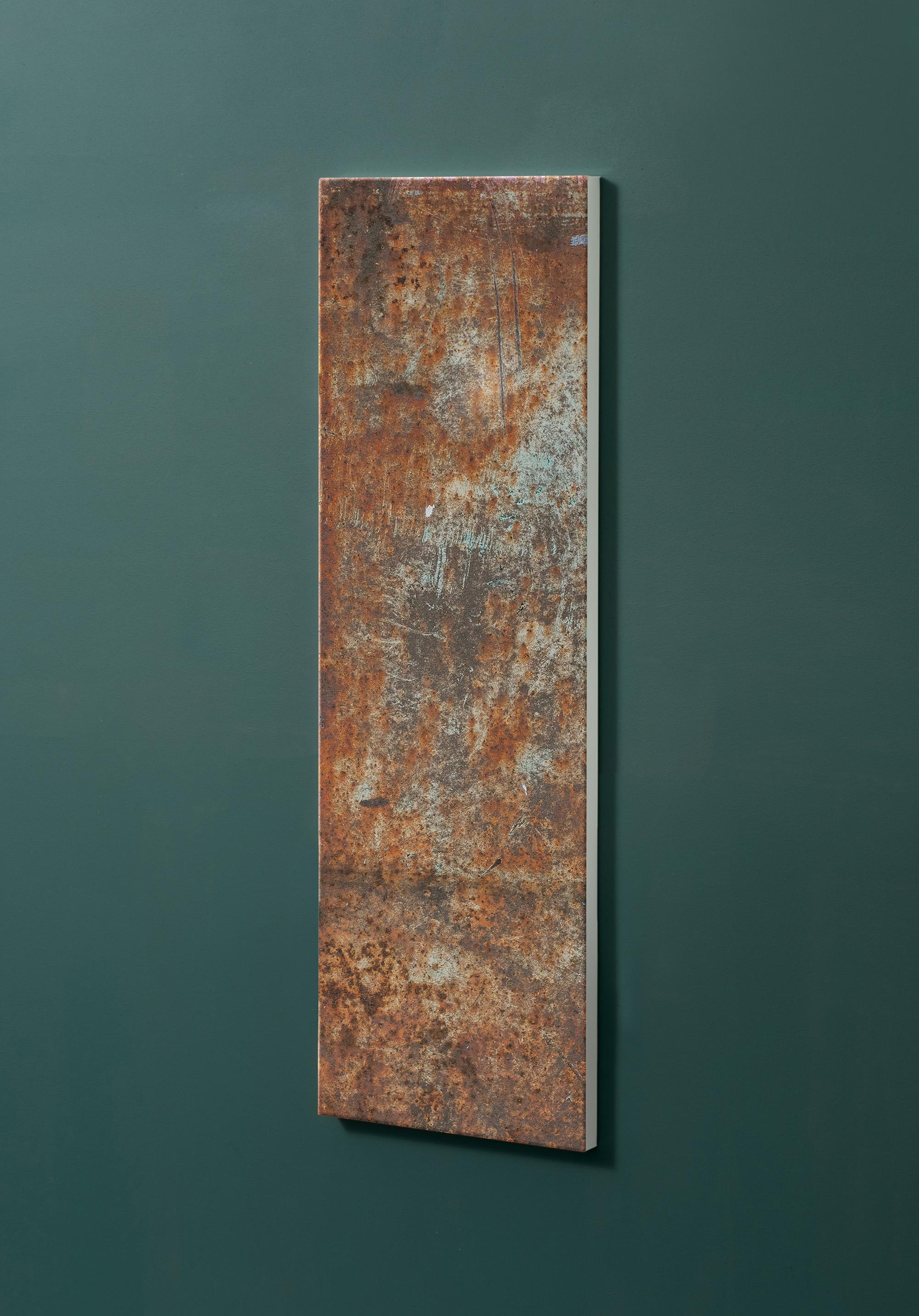 Magnettafel NOTIZ 30x90cm Motiv-Pinnwand M106 Rost