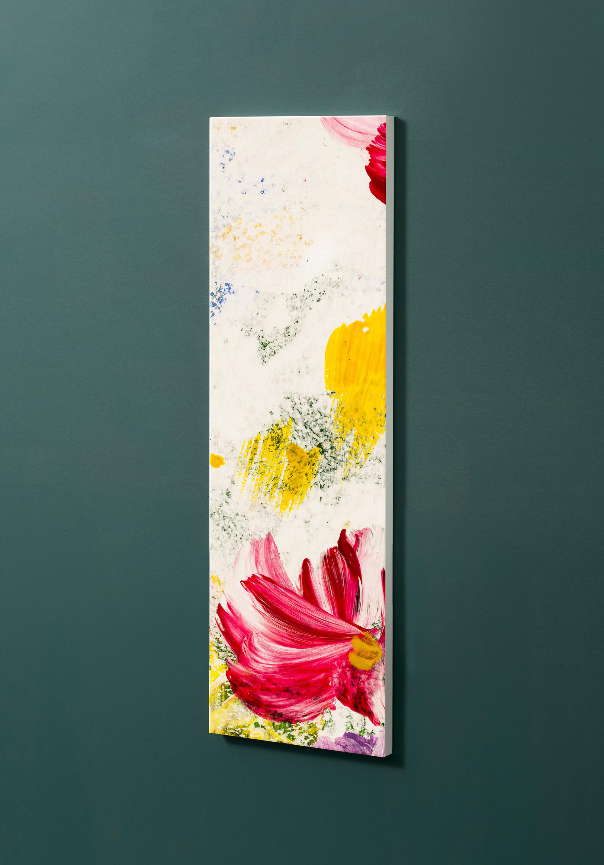 Magnettafel NOTIZ 30x90cm Motiv-Pinnwand M109 Blumen