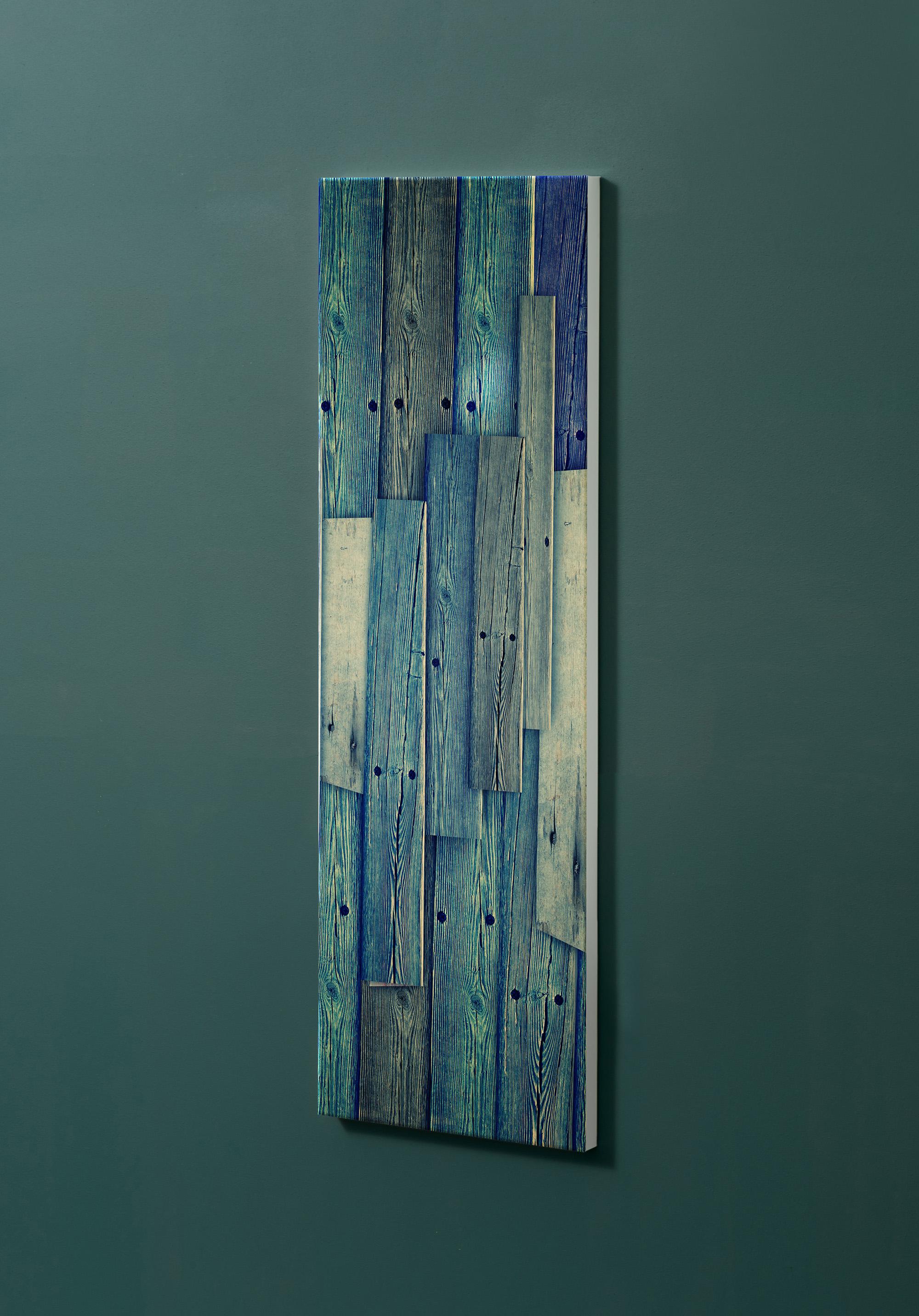 Magnettafel NOTIZ 30x90cm Motiv-Pinnwand M12 Holzbretter Vintage