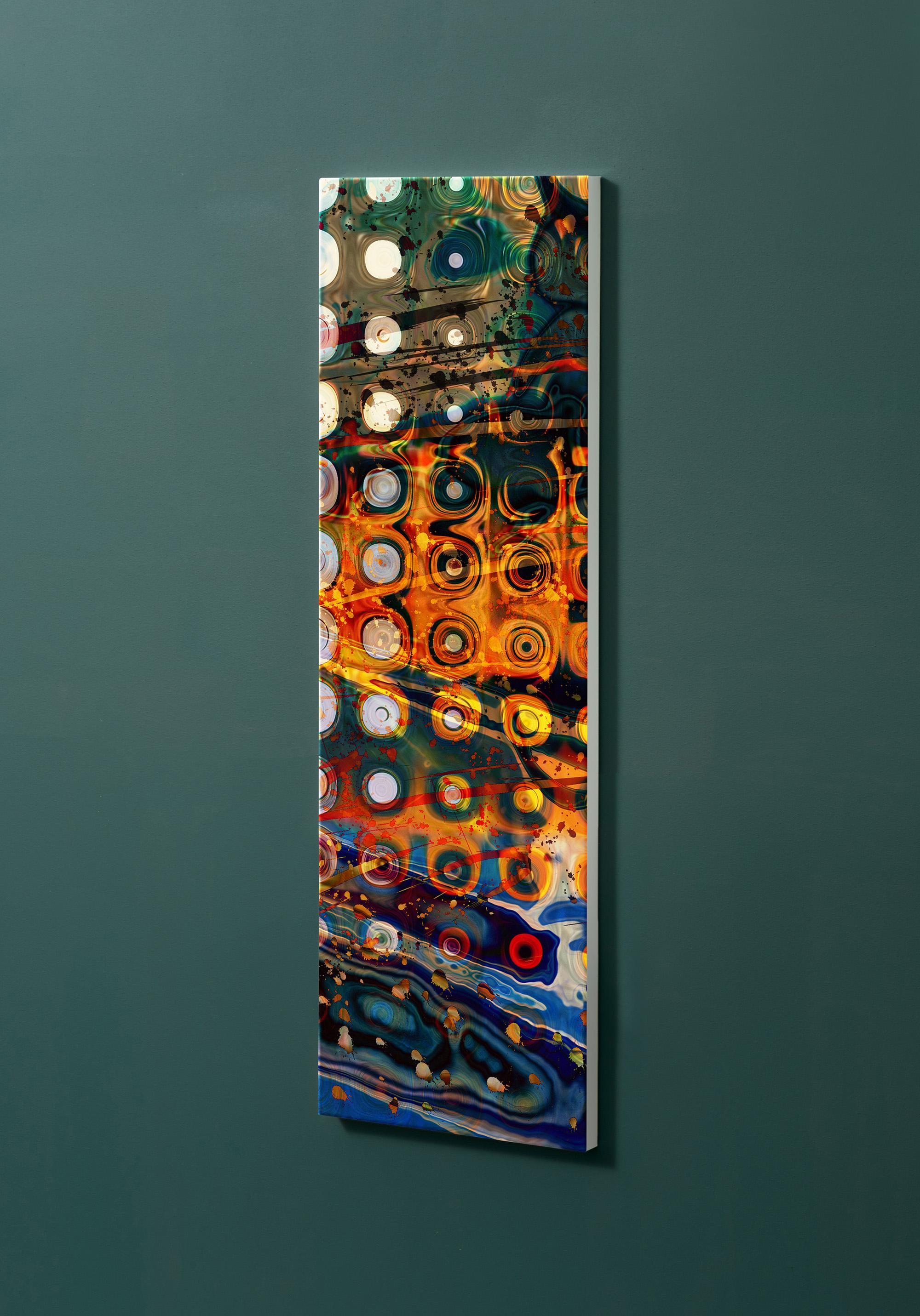 Magnettafel NOTIZ 30x90cm Motiv-Pinnwand M14 Abstrakt Kunst