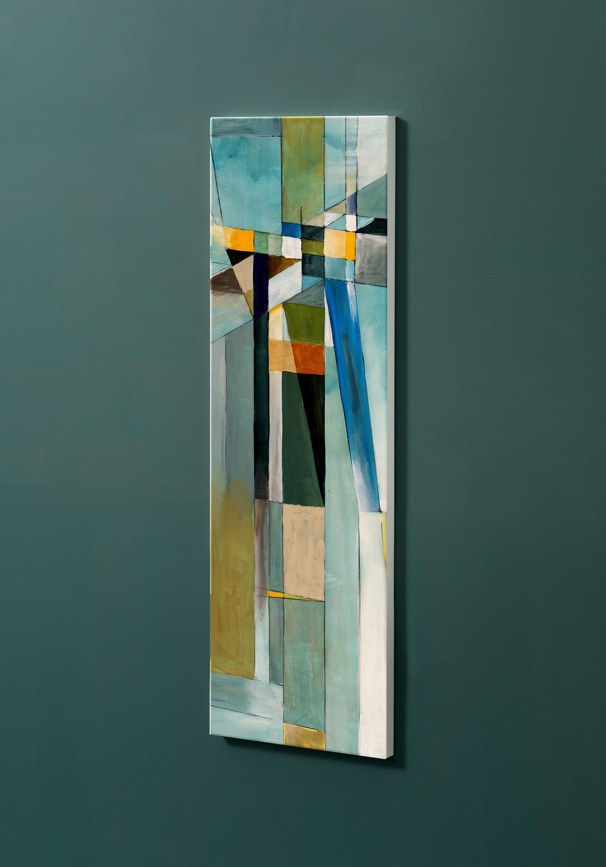 Magnettafel NOTIZ 30x90cm Motiv-Pinnwand M16 Abstrakt Kunst