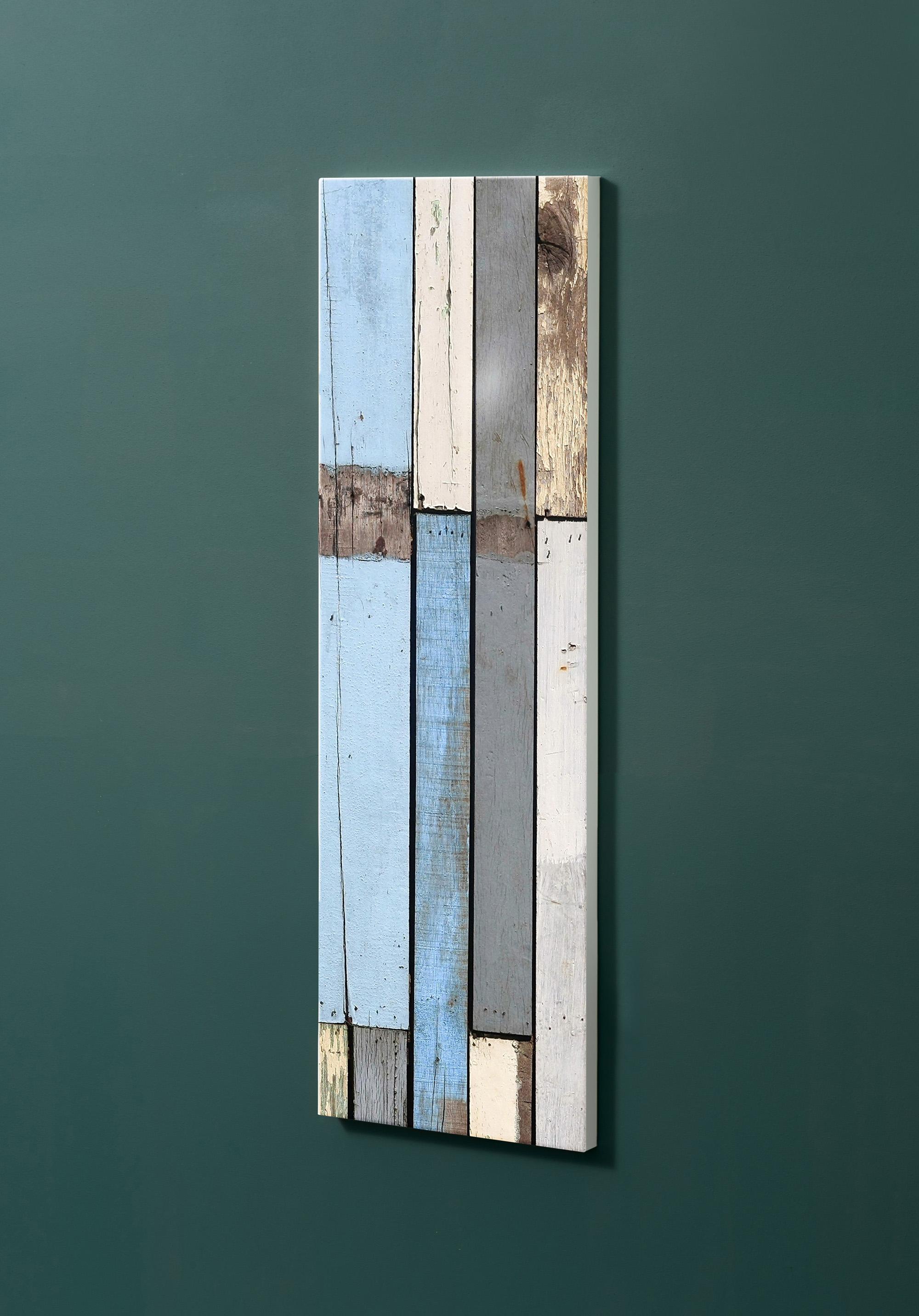 Magnettafel NOTIZ 30x90cm Motiv-Pinnwand M17 Holzbretter Vintage