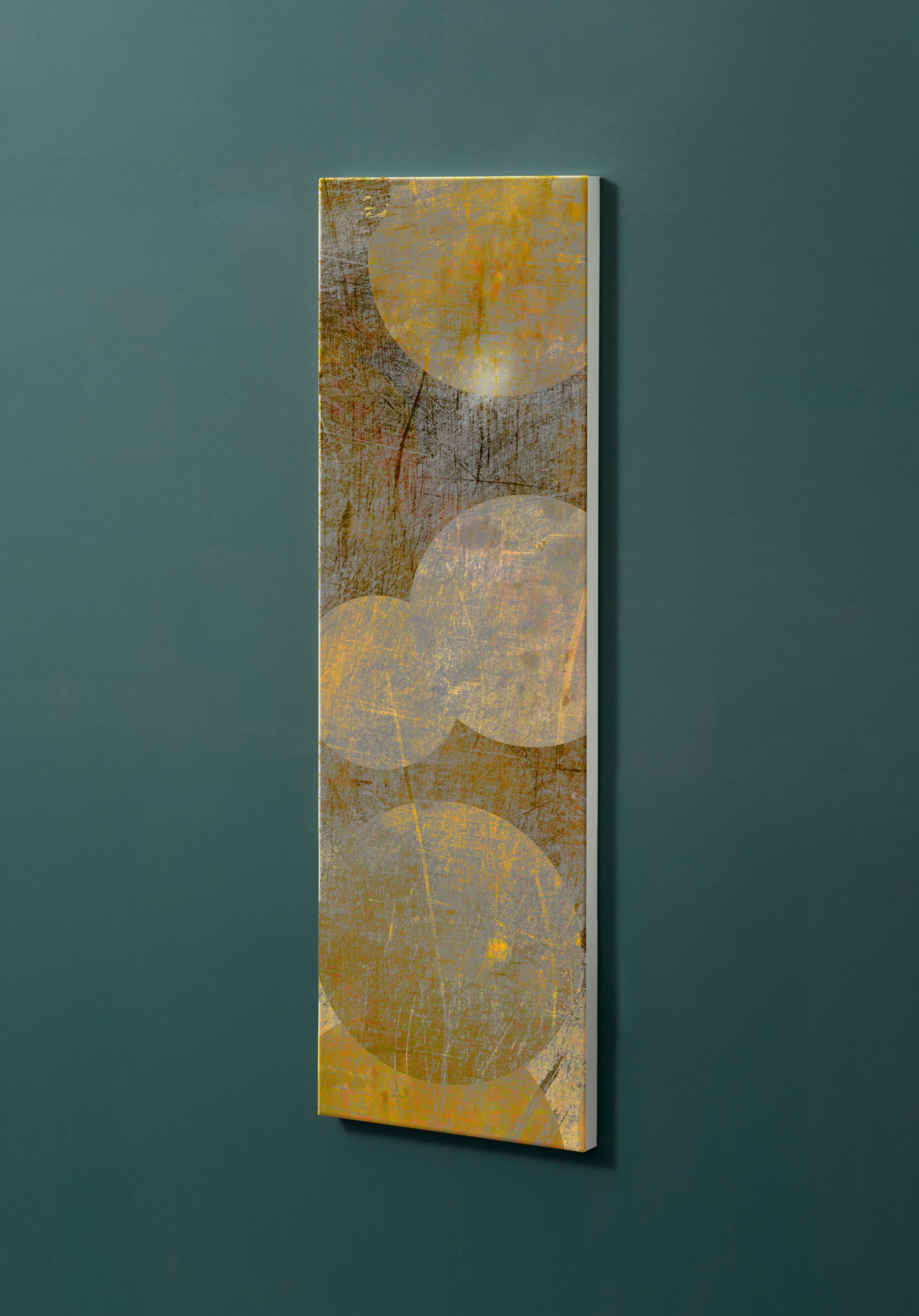 Magnettafel NOTIZ 30x90cm Motiv-Pinnwand M20 Kreise