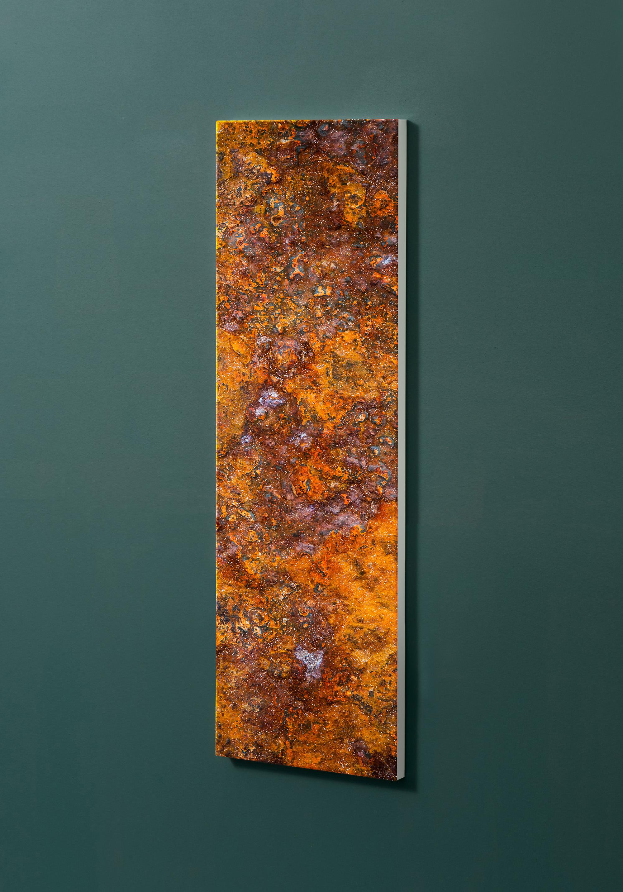 Magnettafel NOTIZ 30x90cm Motiv-Pinnwand M37 Rost