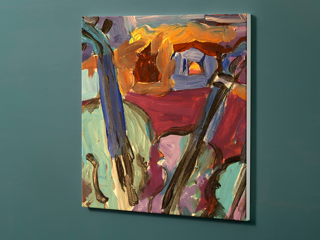 Magnettafel NOTIZ 60x60cm Motiv-Pinnwand M01 Kunst Gemälde