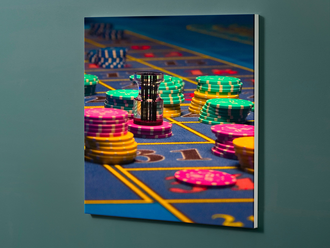 Magnettafel NOTIZ 60x60cm Motiv-Pinnwand M05 Casino Roulette