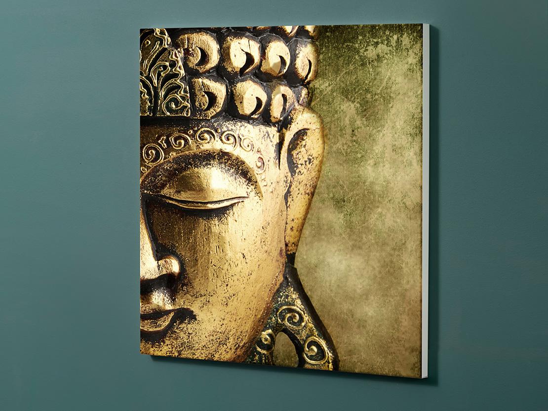 Magnettafel NOTIZ 60x60cm Motiv-Pinnwand M100 Buddha