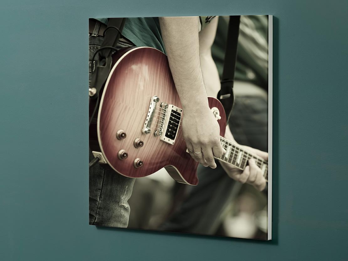 Magnettafel NOTIZ 60x60cm Motiv-Pinnwand M101 Gitarre