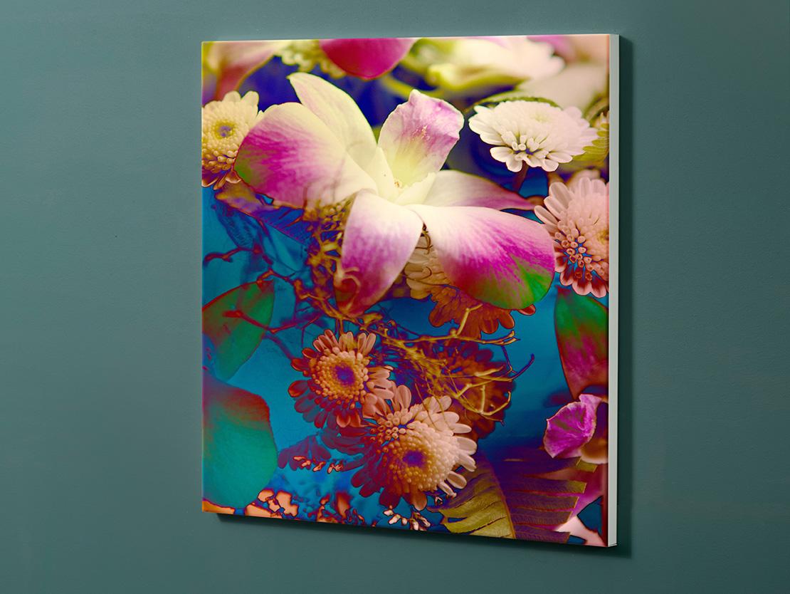 Magnettafel NOTIZ 60x60cm Motiv-Pinnwand M102 Blumen