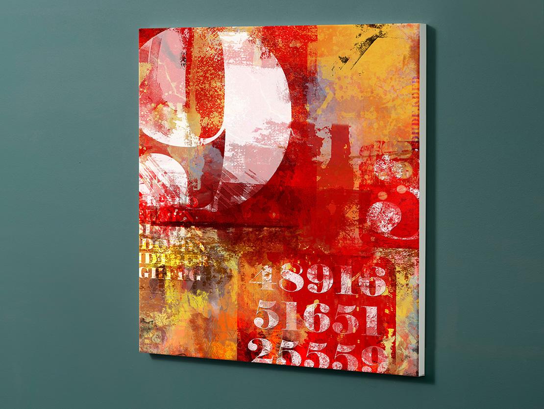 Magnettafel NOTIZ 60x60cm Motiv-Pinnwand M105 Kunst