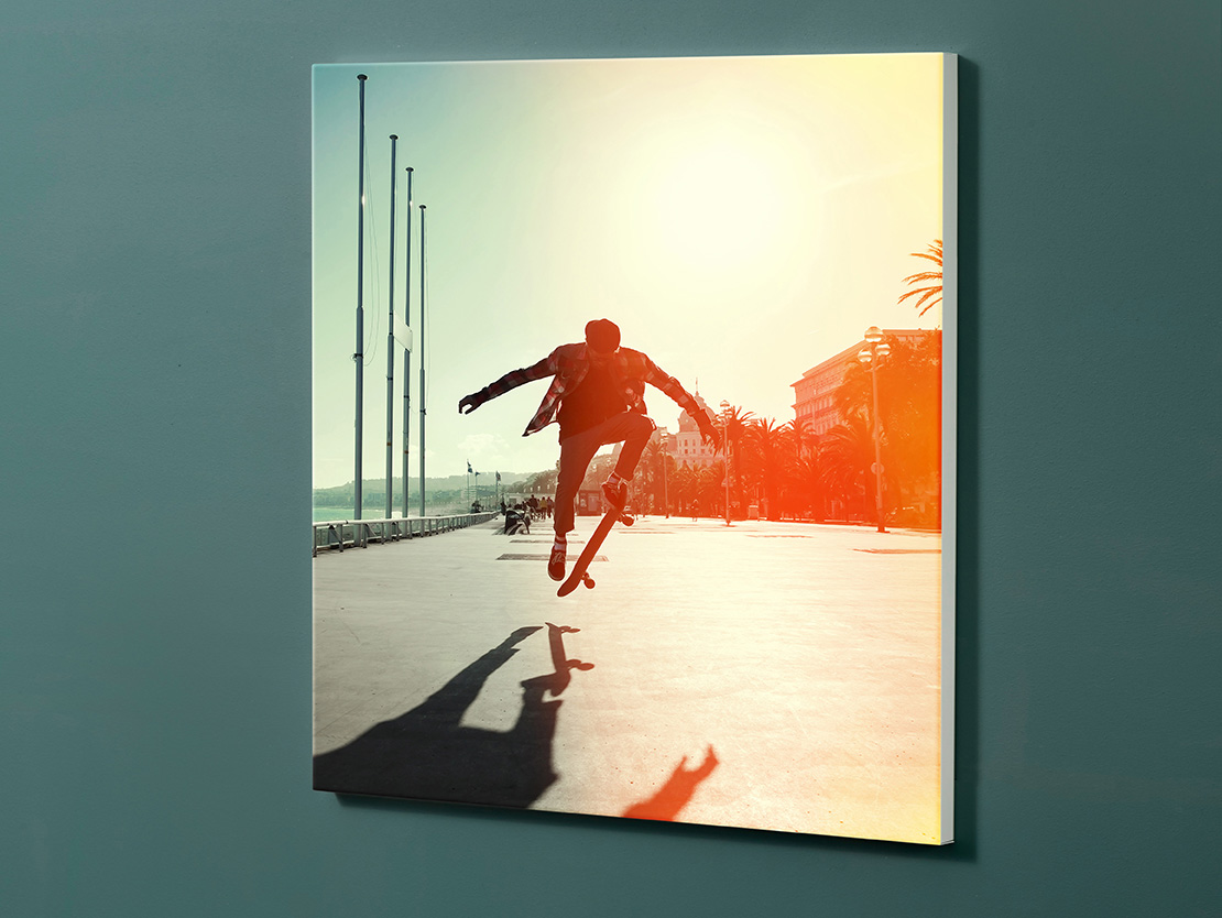 Magnettafel NOTIZ 60x60cm Motiv-Pinnwand M110 Skateboard