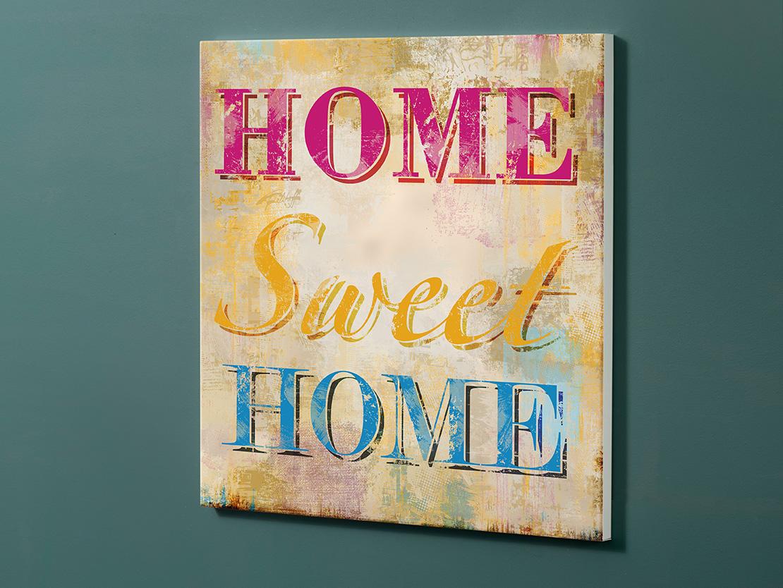 Magnettafel NOTIZ 60x60cm Motiv-Pinnwand M116 Home Sweet Home