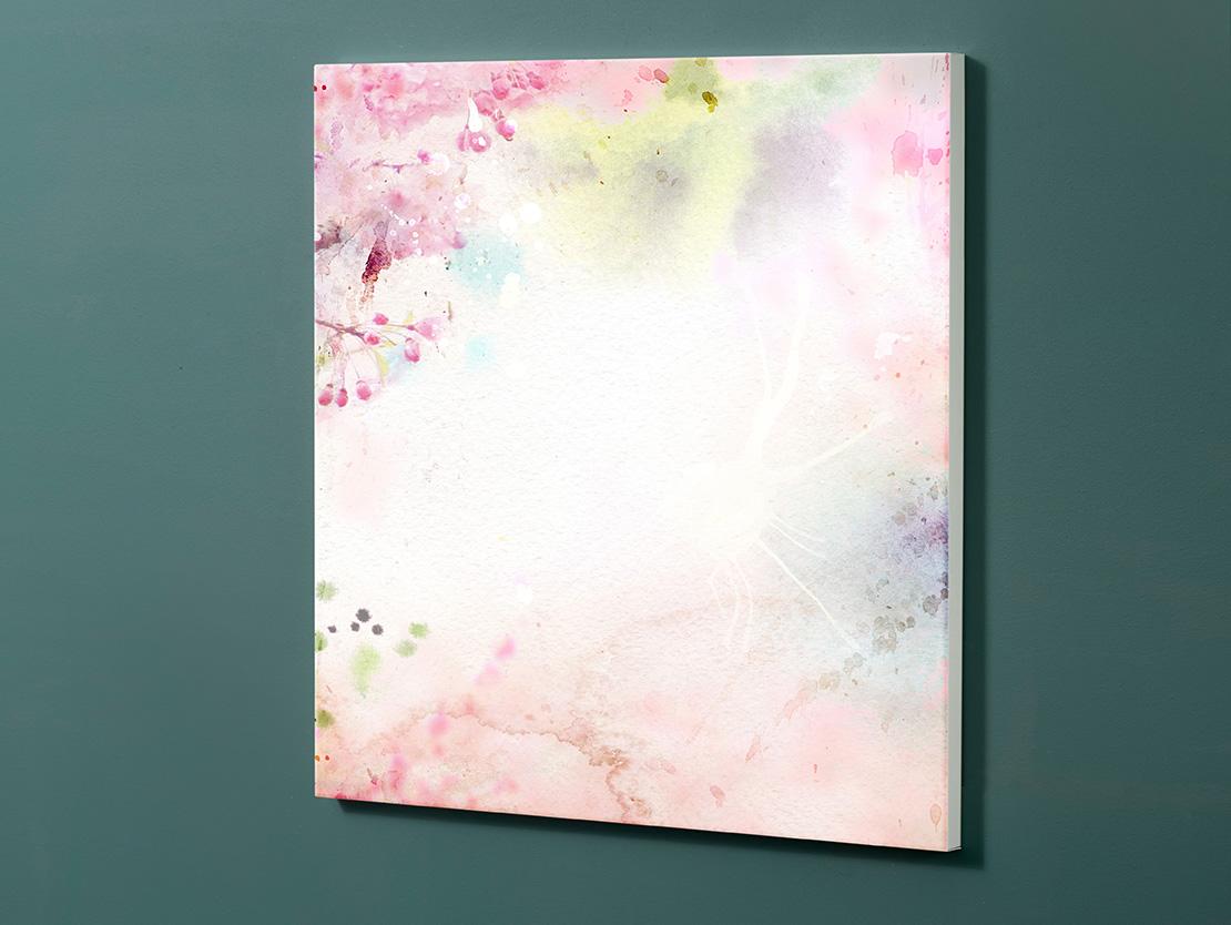 Magnettafel NOTIZ 60x60cm Motiv-Pinnwand M117 Blüten